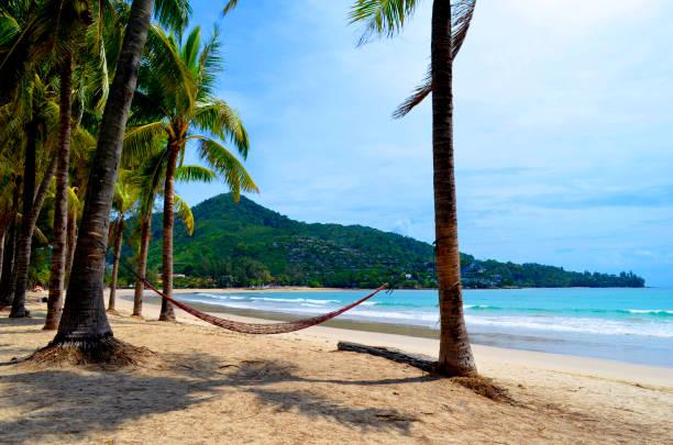Kamala beach on Phuket stock photo