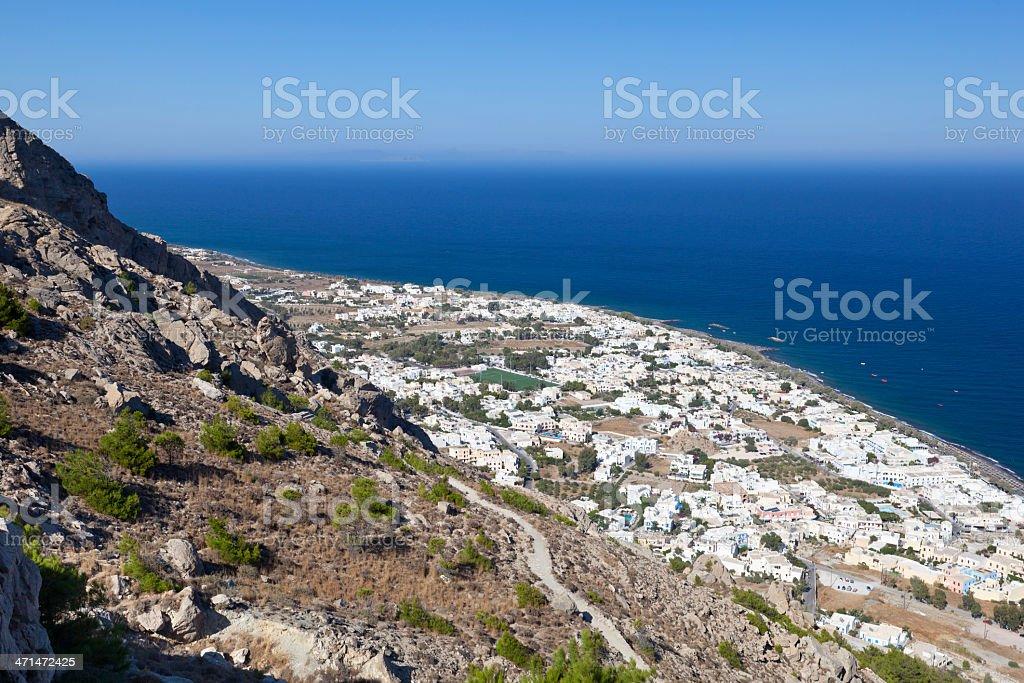 Kamari, Santorini stock photo