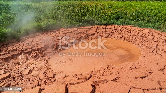 istock Kamchatka. twin mud cauldrons in the valley of geysers 1326913058