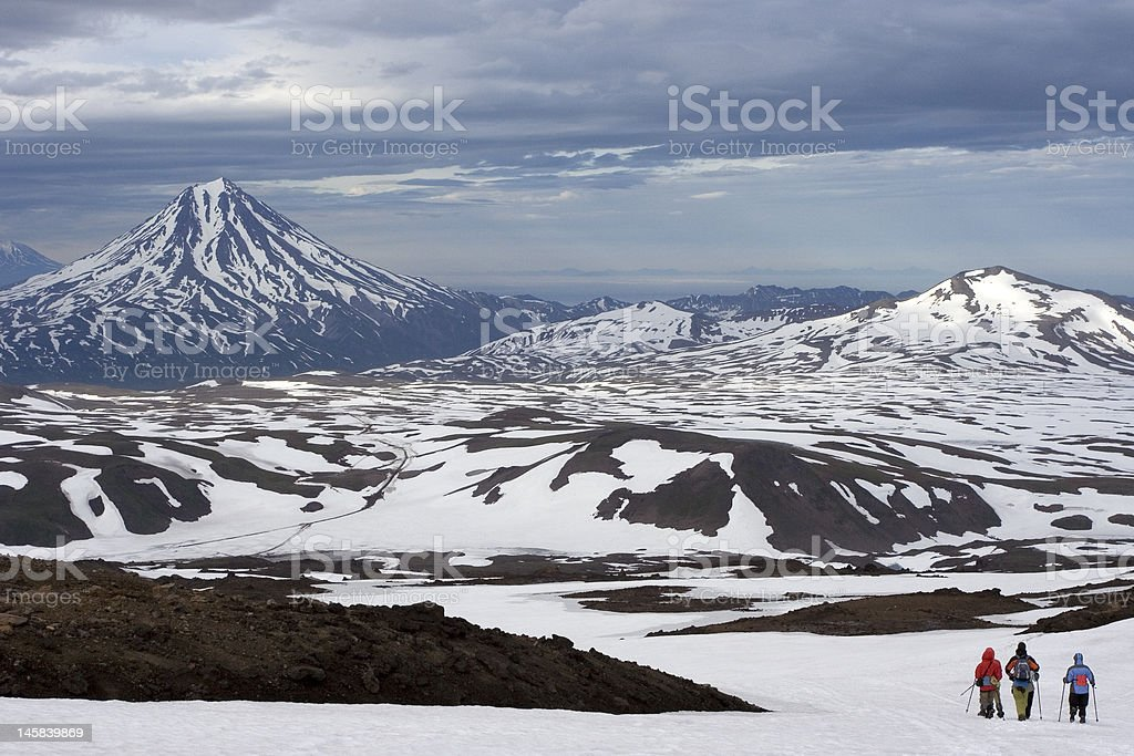 Kamchatka view on Vilyuchinsky volcano stock photo