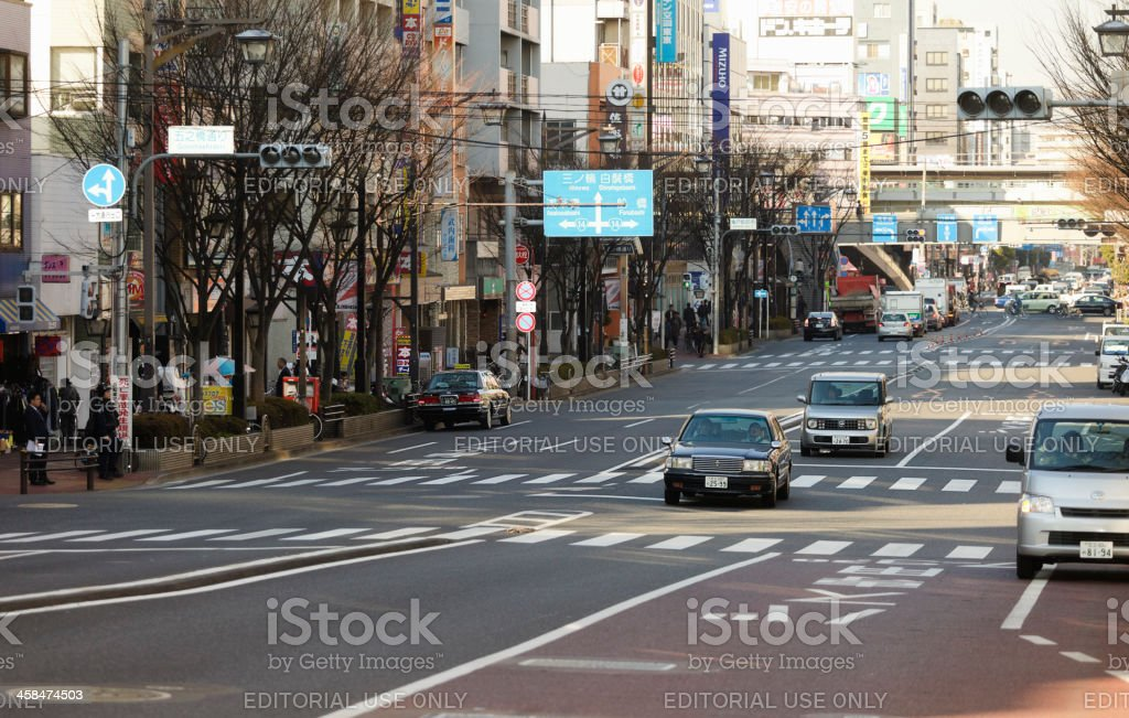 Kameido District Street Scene royalty-free stock photo