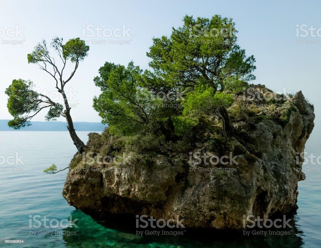 Kamen Brela - kleine berühmte Insel in Brela, Makarska Riviera, Dalmatien, Kroatien – Foto