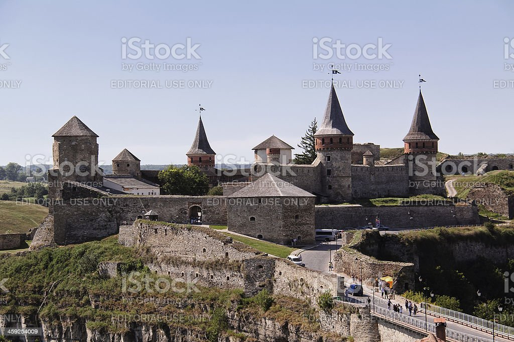 Kamianets-Podilskyi castle royalty-free stock photo