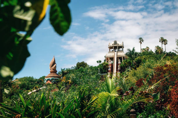 Kamikaze or Tower of Power in Siam Park, Tenerife stock photo