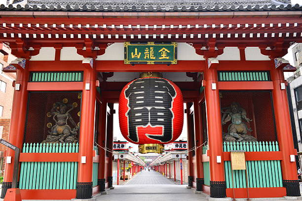 Kaminarimon Tor des Sensoji Tempel, Tokio – Foto