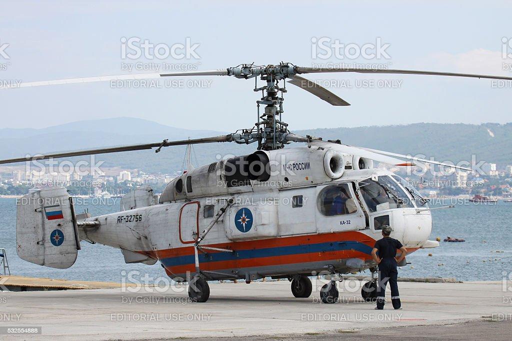Kamov Ka-32 helicopter stock photo