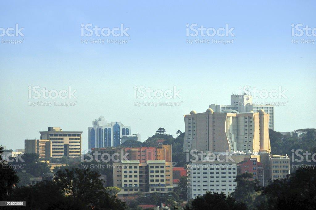 Kampala city view, skyline of Uganda's capital stock photo