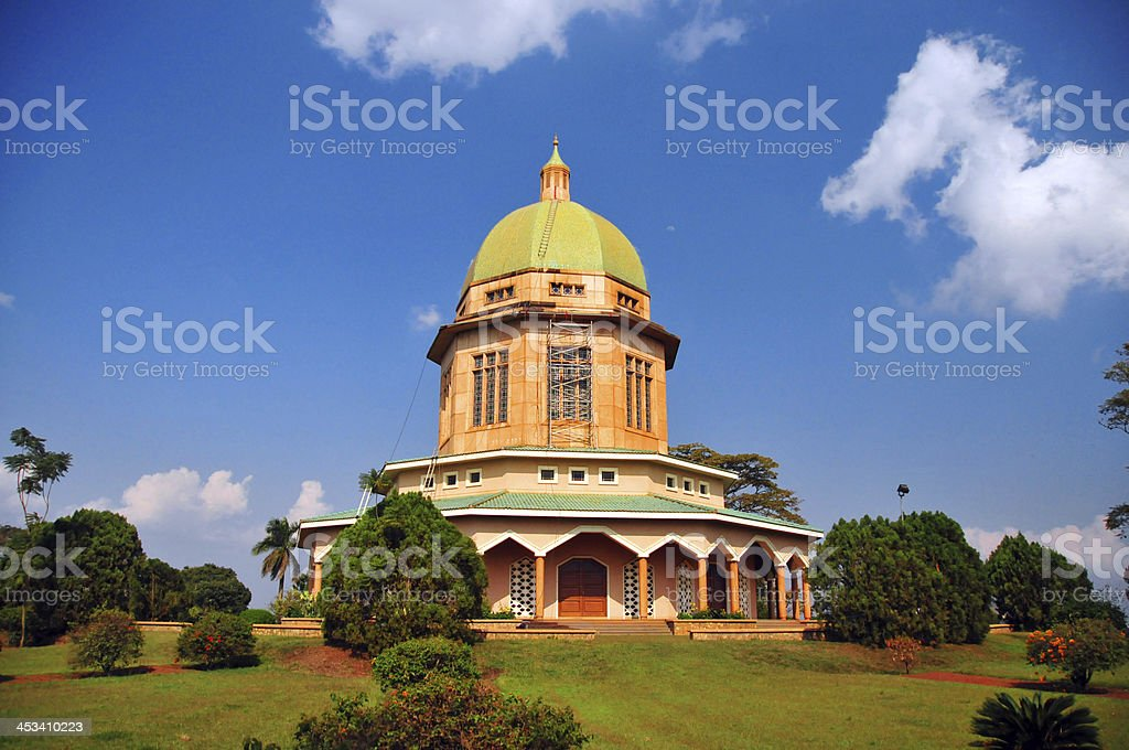 Kampala, Uganda: Bahai Temple royalty-free stock photo