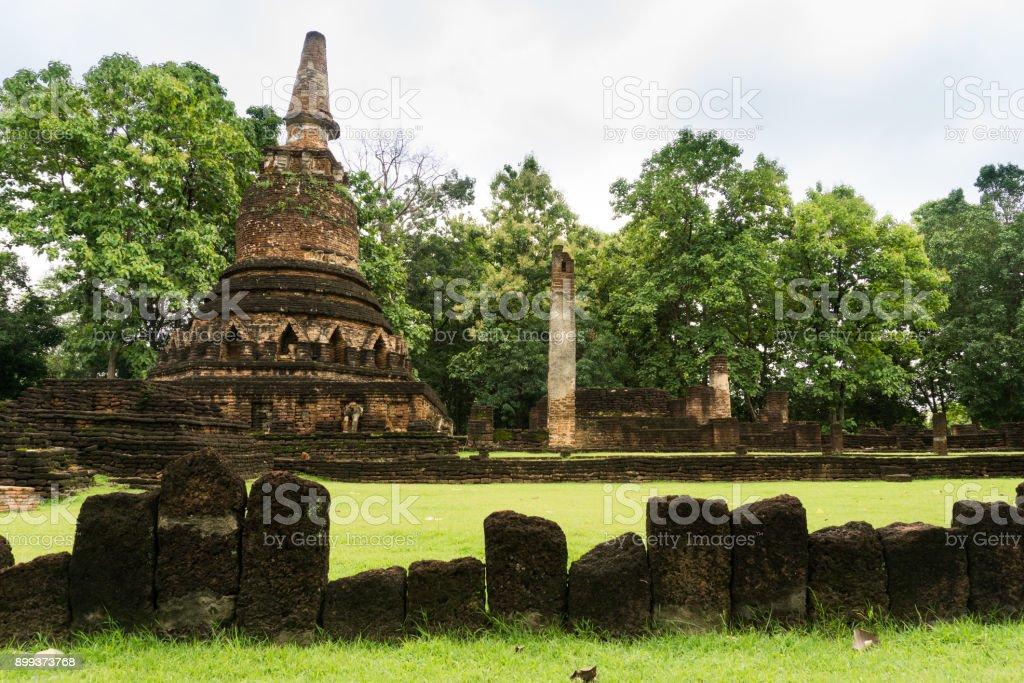Kamphaeng Phet, thailand - july 1,2017 : Kamphaeng Phet Historical Park at Kingdom Of Thailand. stock photo