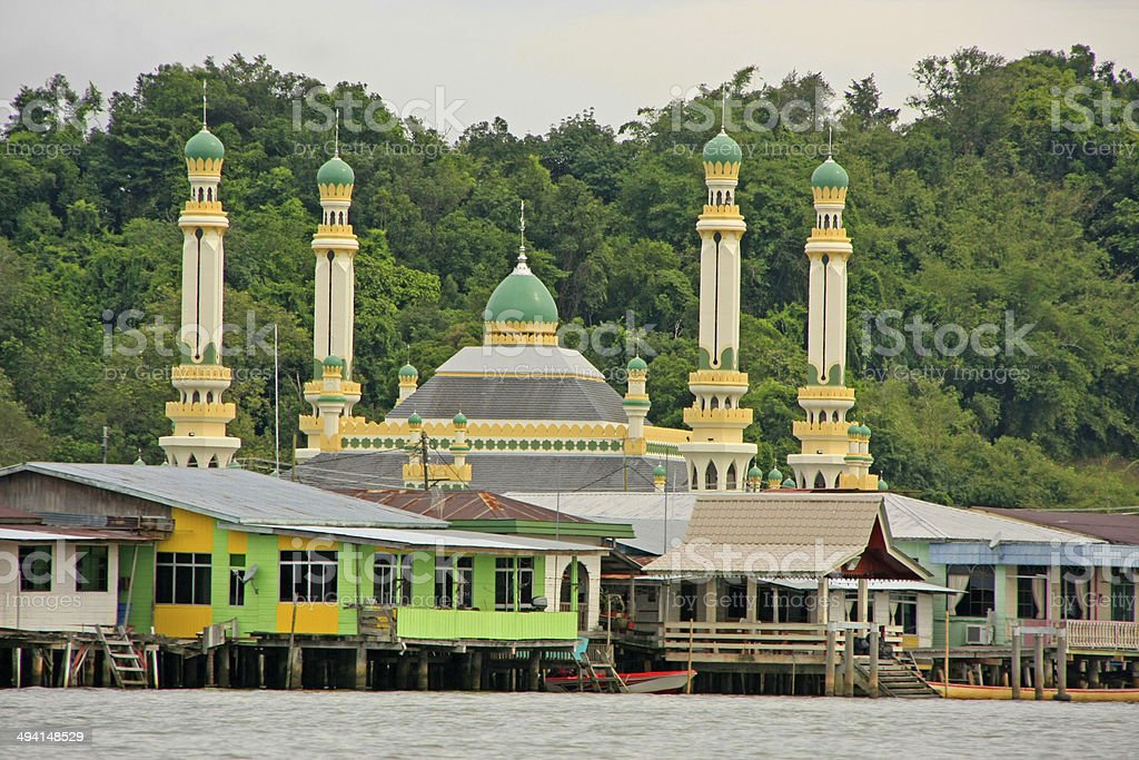 Kampong Ayer, Bandar Seri Begawan, Brunei, Southeast Asia stock photo