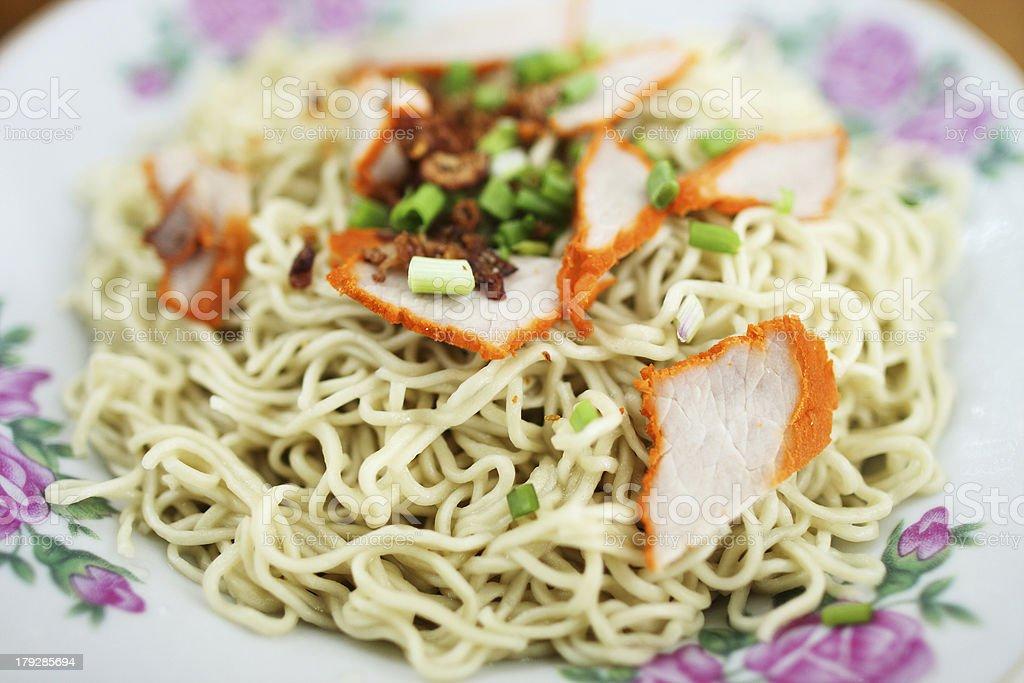 Kampua Mee (Sarawak Chinese Noodles) stock photo