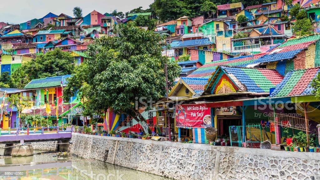 Kampung Pelangi in Semarang Indonesië foto