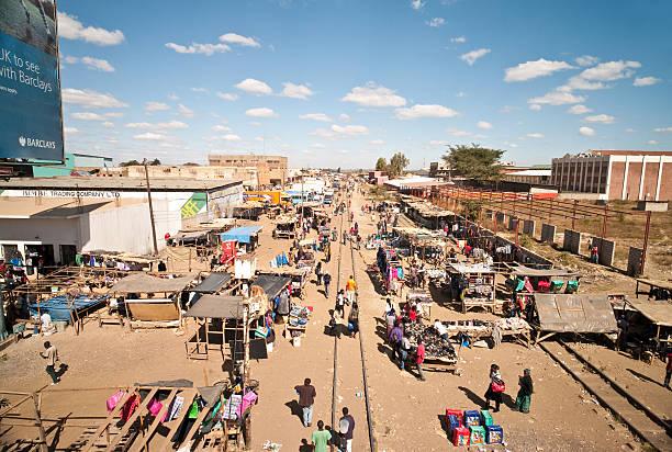 kamwala outdoor-markt, lusaka - sambia stock-fotos und bilder
