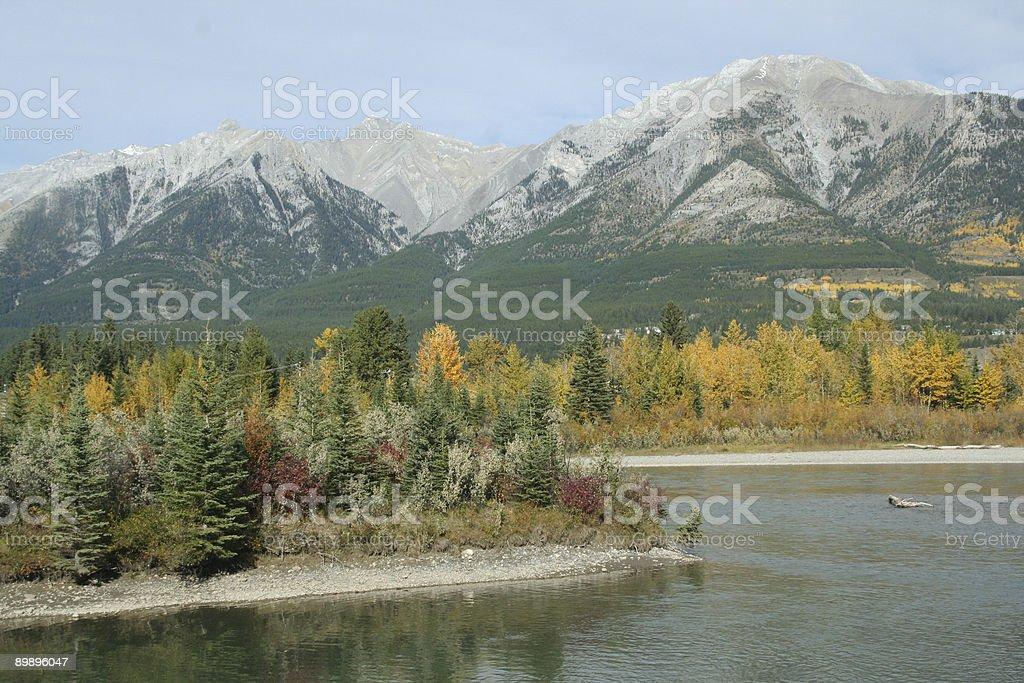 Кананаскис Горы, реки Боу Стоковые фото Стоковая фотография