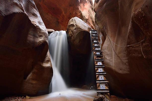 Kanarra Creek Slot Canyon stock photo