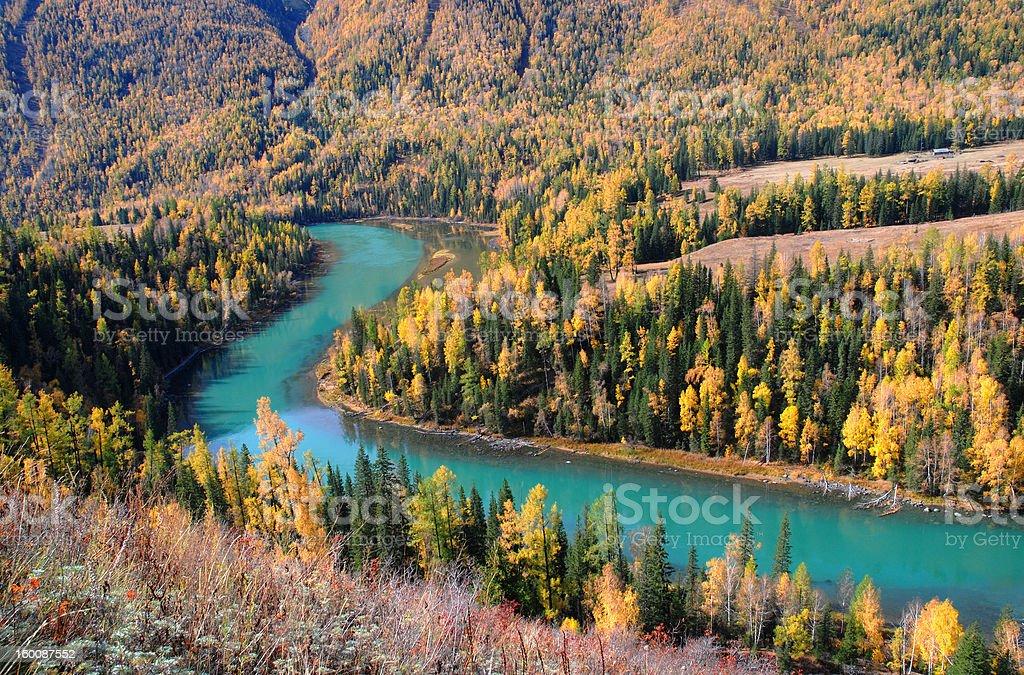 Kanas River royalty-free stock photo