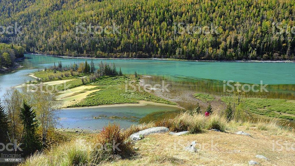 Kanas river- Wolong bay 04 royalty-free stock photo