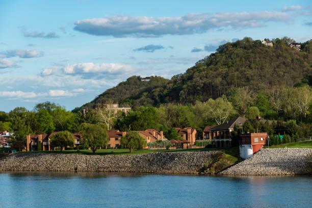 Kanawha River, Charleston, West Virginia stock photo