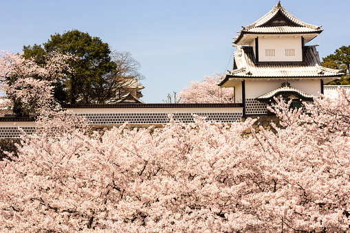 Kanazawa Castle in Ishikawa Prefecture, Japan