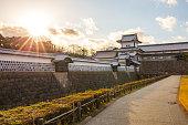金沢城に金沢、日本。