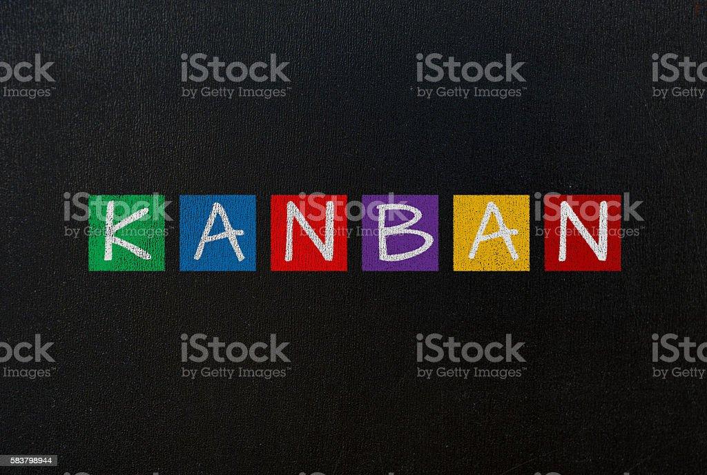 kanban concept stock photo