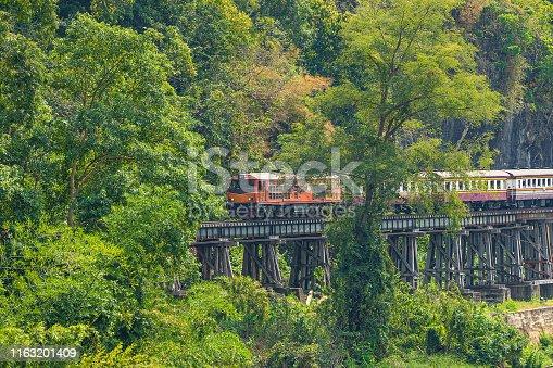 Thailand, Kanchanaburi Province, Rail Transportation, Diesel Fuel, Train - Vehicle