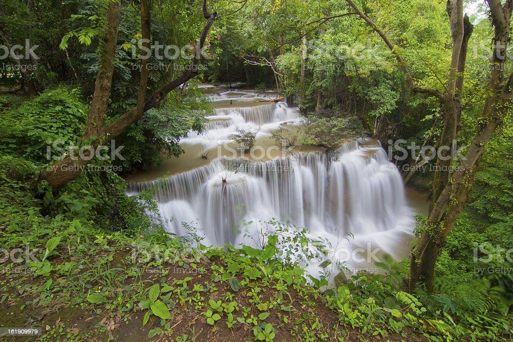 Kanchanaburi waterfall royalty-free stock photo