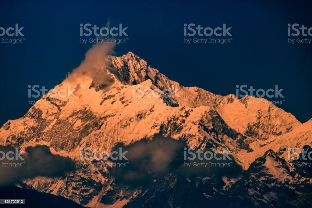 Kanchenjunga stock photo