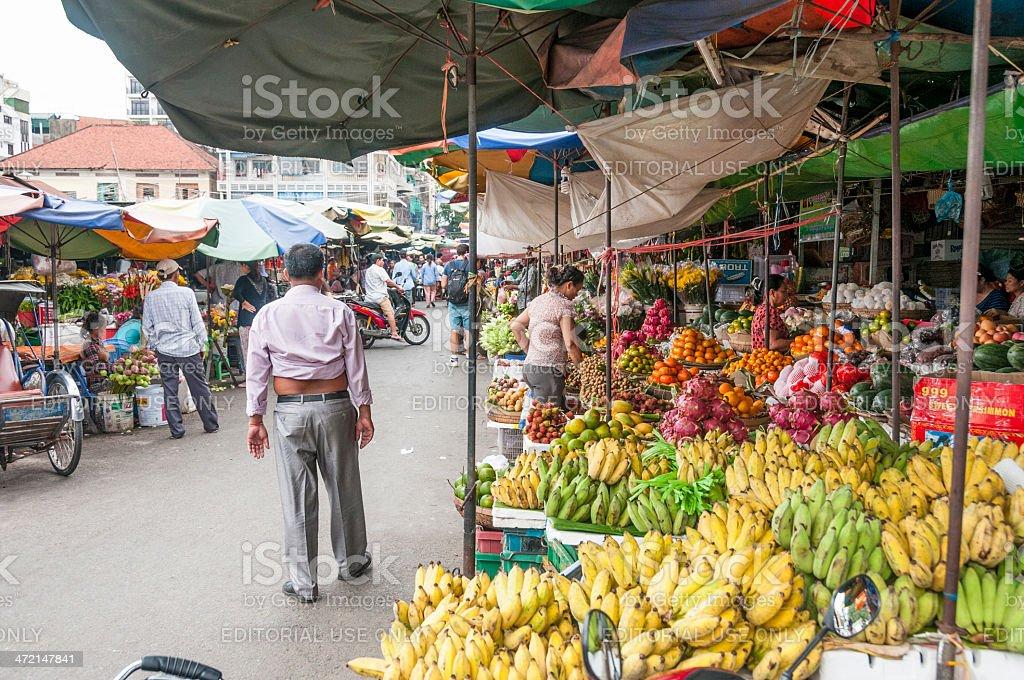 Kandal Market In Phnom Penh, Cambodia royalty-free stock photo