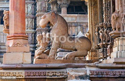 istock Kandariya Mahadeva temple in Khajuraho, India 584505136