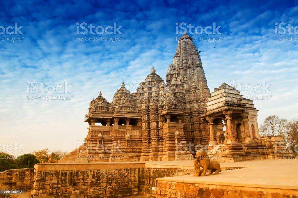 Kandariya Mahadeva-Tempel, Khajuraho, Indien. – Foto
