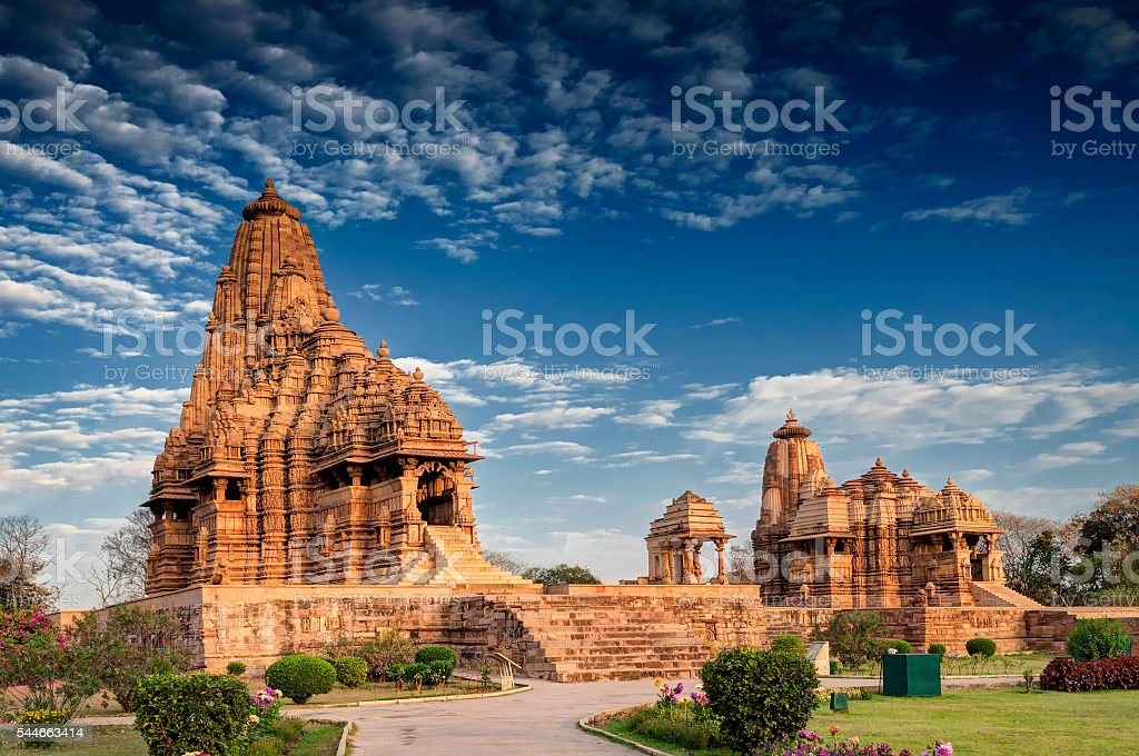 Kandariya Mahadeva-Tempel, Khajuraho, Indien – UNESCO Weltkulturerbe – Foto