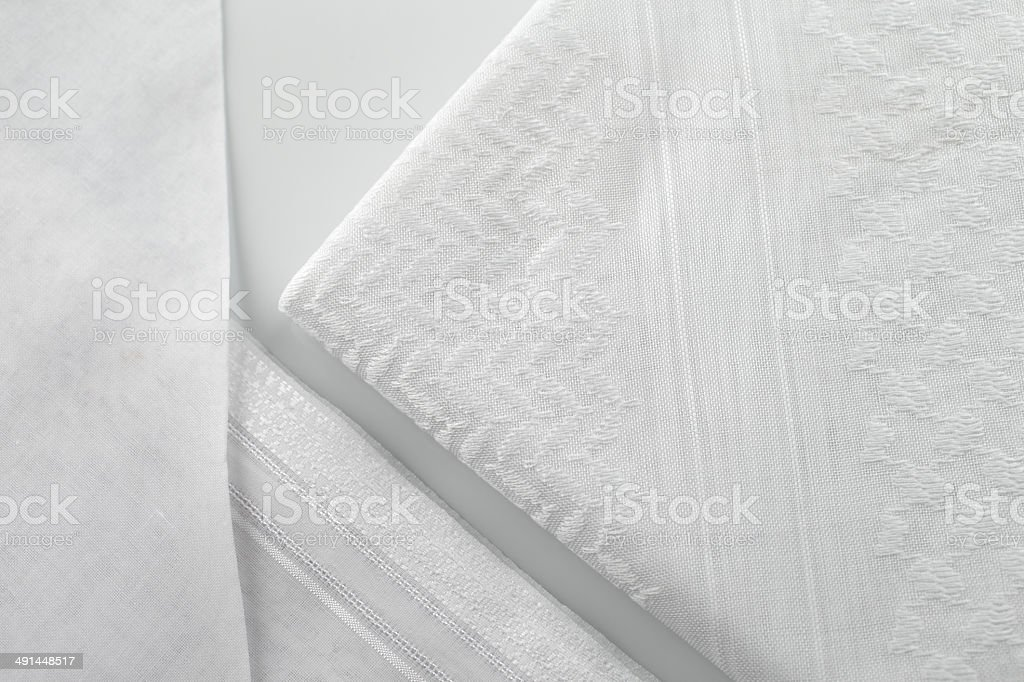 Kandura is usually tailored to perfection with detailed ornate stitching stock photo