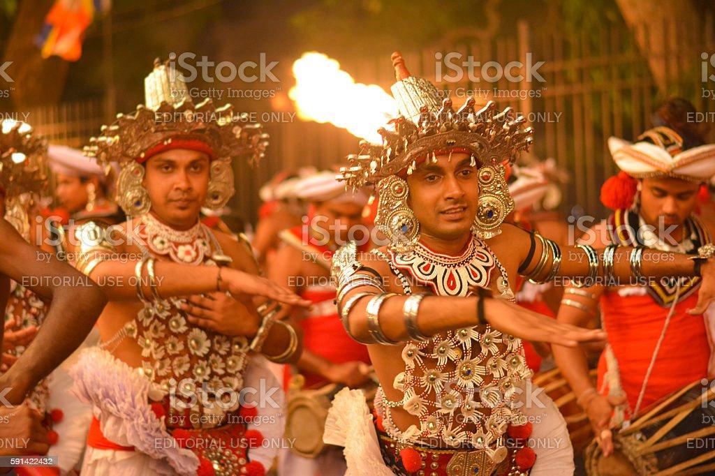 Kandy Esala procession, Sri Lanka stock photo