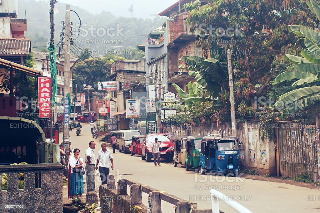 Kandy, Sri Lanka, october 22, 2011: On the street stock photo