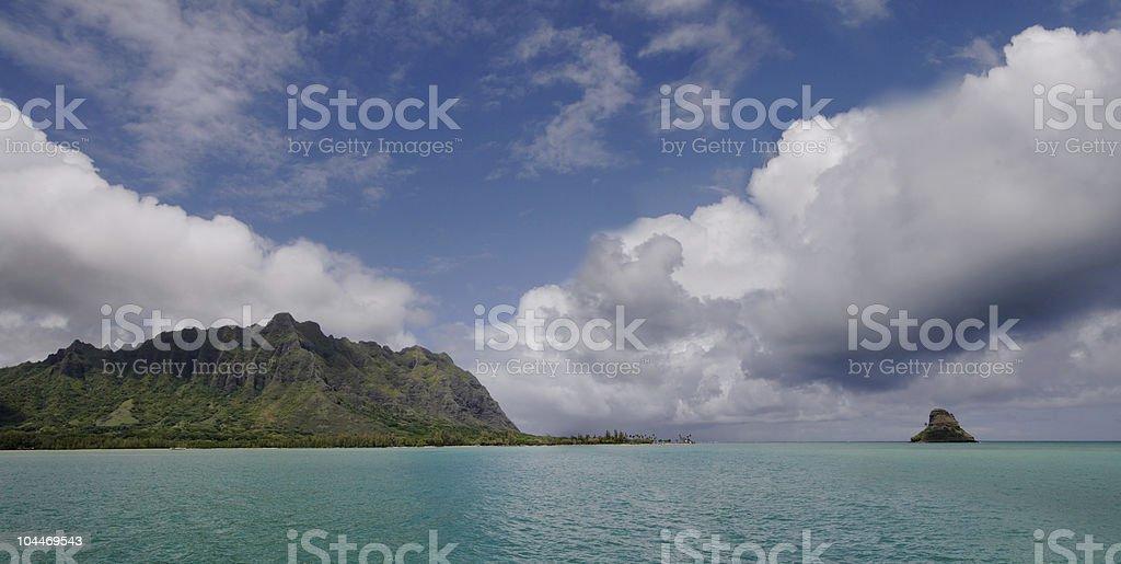 Kanehoe Bay Panorama stock photo