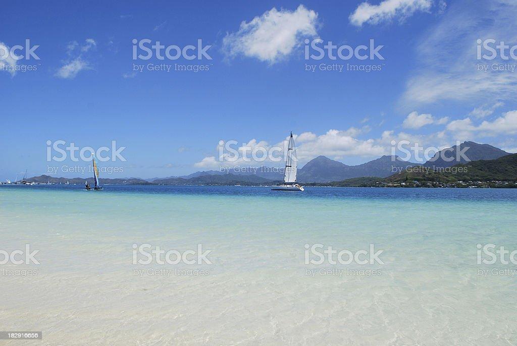 Kaneohe bay sandbar royalty-free stock photo