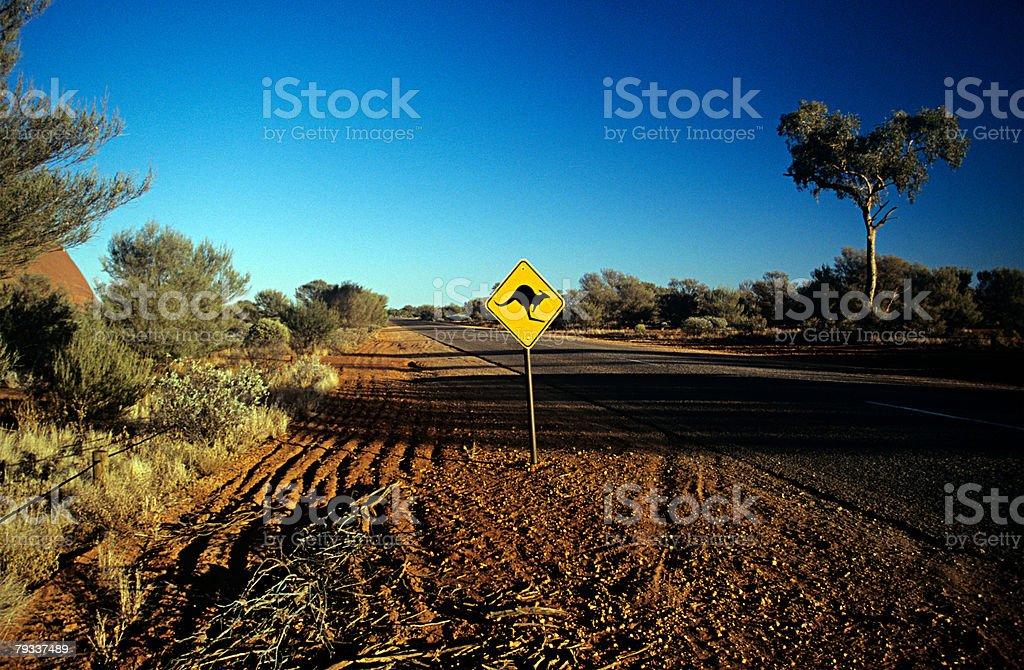 Kangaroo road sign 免版稅 stock photo