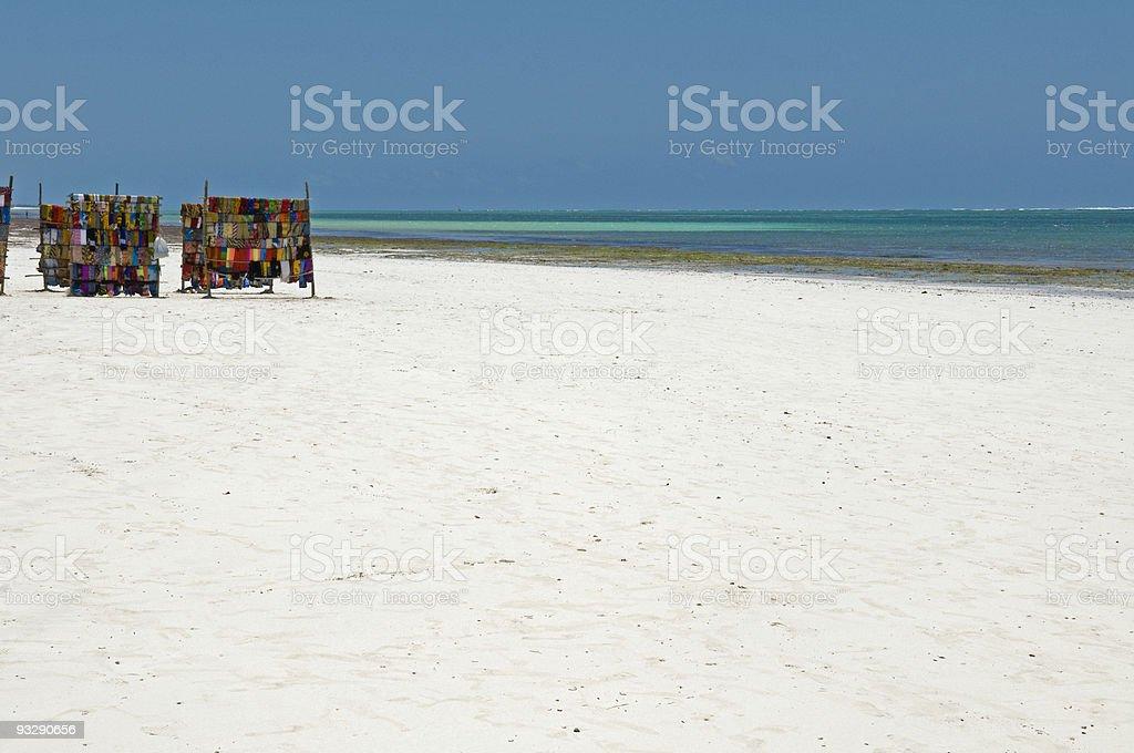 Kanga's (cloth) for sale on Mombasa beach stock photo