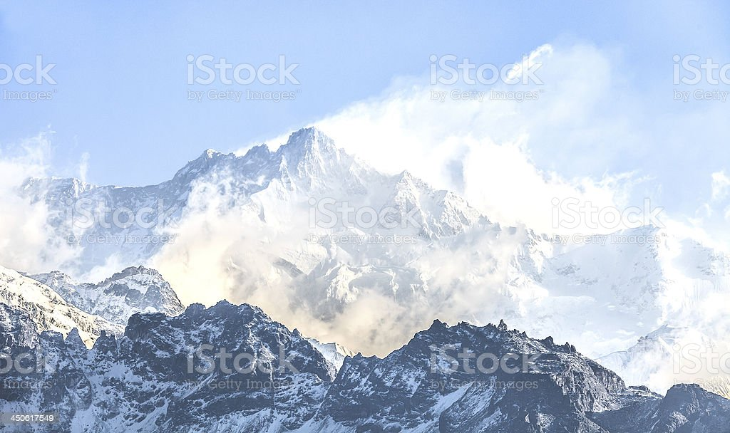 Kangchenjunga is the third highest mountain royalty-free stock photo