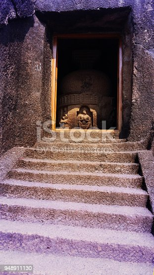 Buddhist caves popularly known as the Kanheri Caves. Kanheri, known as Krishnagiri or Kanhagiri in ancient inscription, literally means black mountain (Krishna means black and giri is mountain) and is mostly named after its black basaltic stone. Spanning from the 1st century BC to 11th century AD, an era that saw the rise and decline of Buddhism, these caves present an insight into its evolution and also have the distinction of having the largest number of cave excavations from a single hill.