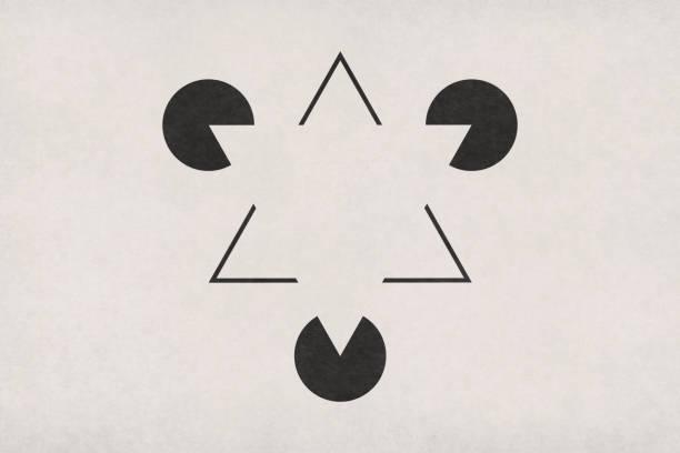 Kanizsa Triangle Illusion stock photo