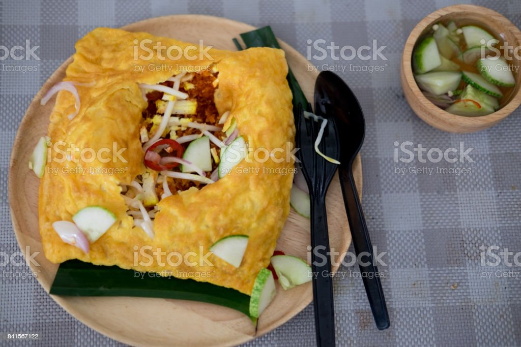Kanom Buang Yuan or banh xeo stock photo