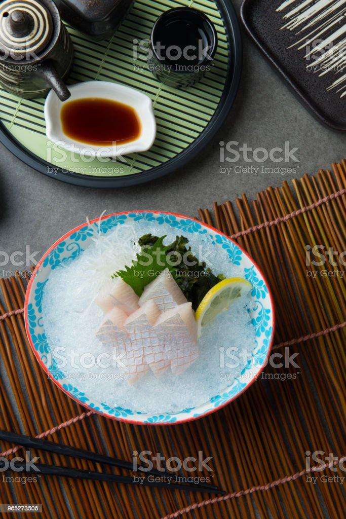 kanpachi toro, amberjack sashimi sushi zbiór zdjęć royalty-free