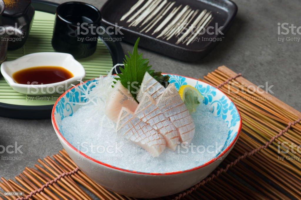 kanpachi toro, amberjack sashimi sushi royalty-free stock photo