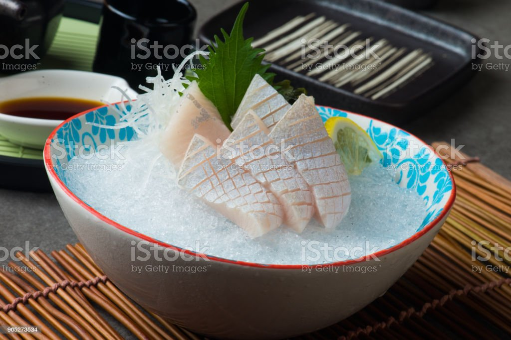 kanpachi toro, amberjack sashimi sushi royalty-free stock photo