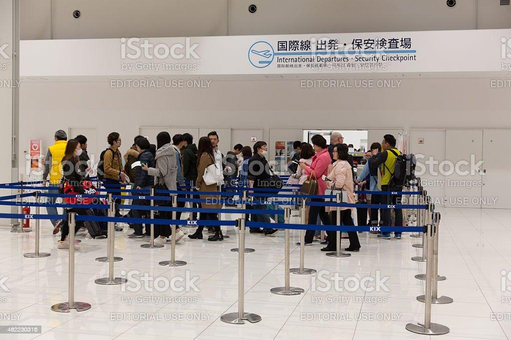 Kansai International Airport in Japan stock photo
