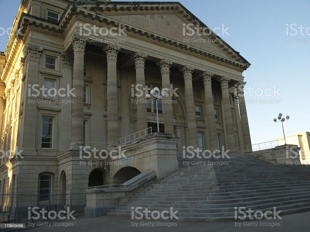 Kansas Capitol south entrance royalty-free stock photo
