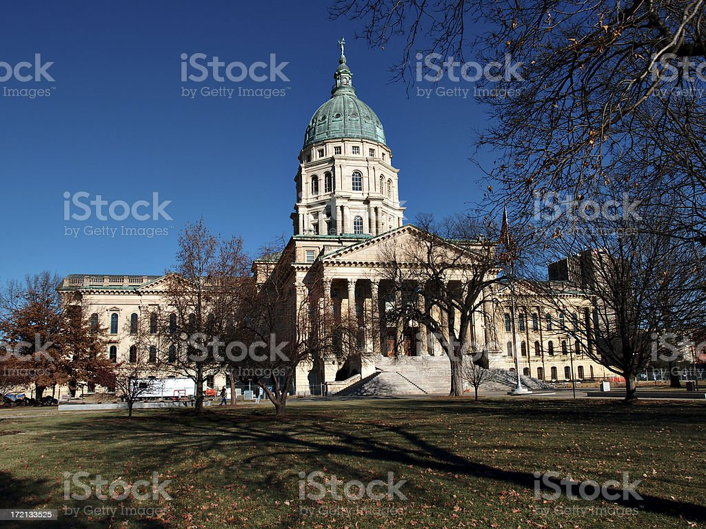 Kansas Capitol south side stock photo