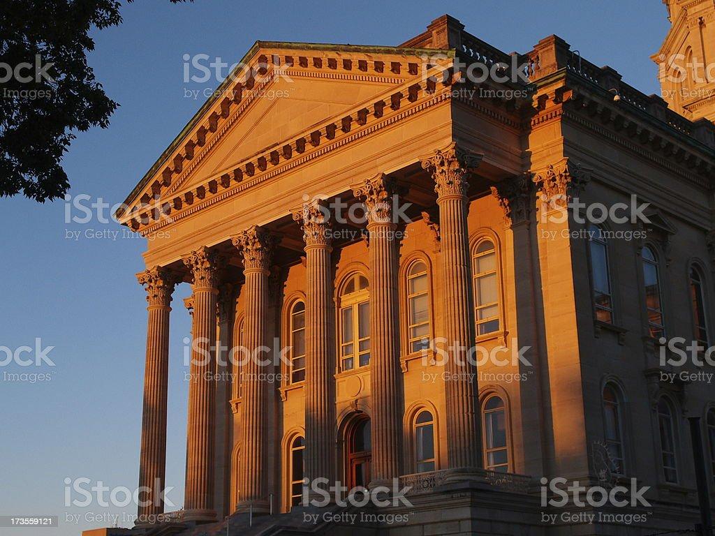 Kansas Capitol west entrance royalty-free stock photo